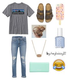 """Dream Outfit"" by heyitsizzy22 on Polyvore featuring Birkenstock, rag & bone, Patagonia, Kendra Scott, Kate Spade and Tory Burch"