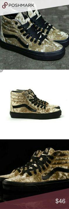 Womems Vans Sk8-Hi velvet tan/blk S 8.5 new in box Womems Vans Sk8-Hi velvet tan/blk S 8.5 new in box vans Shoes Sneakers