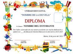 diplomas para editar Free Printable Certificate Templates, Certificate Design Template, Free Printable Stationery, Boarder Designs, Preschool Graduation, School Gifts, School Projects, Education, Barn