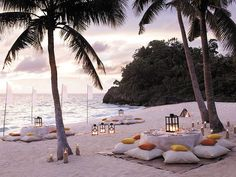 perfect for a reception at a beach wedding!