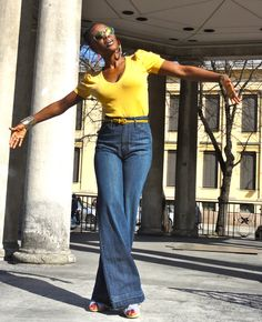 Oslo City! Yellow is the colour of Summer.  Jeans Chloe & top by Zara.  www.fumisfashionfiles.comInstagram - @fumisfashionfiles