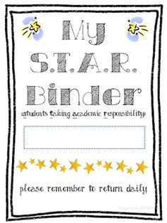 s t a r binder 5th grade homework binder printable homework binder printable