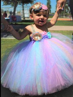 Beautiful baby girls  first birthday tutu dress in aqua blue