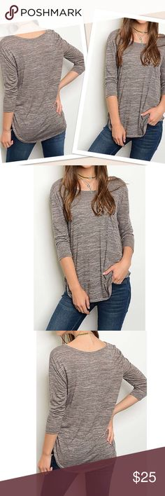 Coming Soon! Reserve Now! 3/4 Sleeve Top. 3/4 Sleeve Round neck jersey knit loose fit top. Tops Blouses
