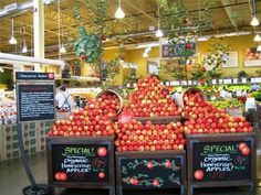 images of produce displays | more whole foods fun a display for honeycrisp…
