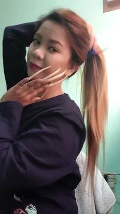 Long Natural Nails, Long Nails, Asian Woman, Women, Ongles