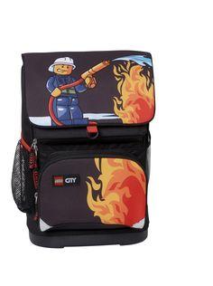 Fede Lego skoletaske 0-2 klasse, City Fire  Rygsække til børn til Rygsække i behagelige materialer