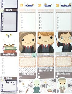 Harry Potter Themed Erin Condren Planner Spread
