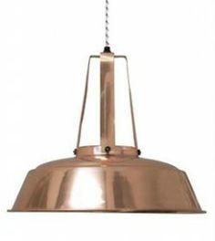 Workshop lamp in koper, 250 euro