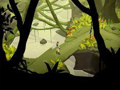 Lara Croft GO iPad Game Artwork - Beautiful!