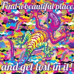 #LisaFrank #color #art #lizard #fun