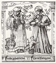Tuner, Tobias: Last quarter of the sixteenth century .Die Lebensalter der Frauen (The Ages of Women), im Alter von dreißig und vierzig Jahren (30-40 years) http://www.zeno.org/Kunstwerke/B/Stimmer,+Tobias%3A+Die+Lebensalter+der+Frauen