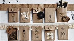 How to make an envelope advent calendar as featured in the collector's edition of Country Style magazine. Rustic and gorgeous. Photo: Sharyn Cairns  Styling: Indianna Foord