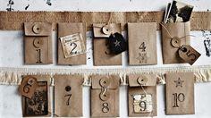 How to make an envelope advent calendar