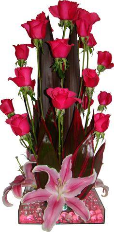 Plants, Base, Flower Arrangements, Romanticism, Hot Pink Roses, Bouquets, Floral Arrangements, Centerpieces, Blue Prints