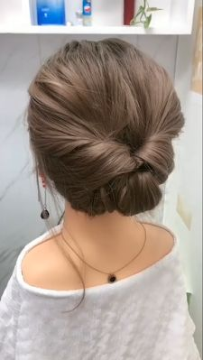 suitable for popular party hairstyles Bun Hairstyles For Long Hair, Cute Girls Hairstyles, Short Hair Hacks, Simple Hair Updos, Buns For Short Hair, Waitress Hairstyles, Easy Hairstyles For Short Hair, Party Hairstyles, Easy Hair Up
