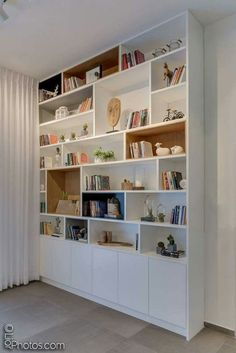 25 trendy home office furniture wall units Living Room Bookcase, Living Room Storage, Home Living Room, Home Library Design, Home Office Design, Bookshelf Design, Bookshelves, Muebles Living, Trendy Home