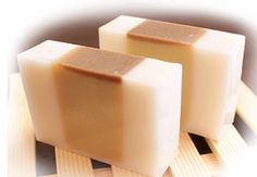 SHEA BUTTER, COCOA BUTTER, GOAT'S MILK, AND HONEY SOAP.