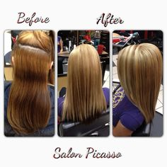 5 different shades of patches transformed into beautiful golden apricot base colour with light blonde highlights done by Salon Picasso!!