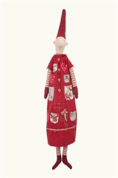 Danish Made, Calendar Pixy Girl in Red, 100% Cotton, 150cm L. Find it now at CiaoBellaShop.com!