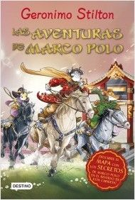 """""""Las aventuras de Marco Polo"""" de  Geronimo Stilton.  ¡Marco Polo fue un auténtico viajero de bigotes! En su época no había coches, trenes ni aviones y viajar significaba afrontar mil peligros, hacer descubrimientos y vivir experiencias maravillosas.  Este es el relato del inolvidable viaje que llevó a Marco Polo de Venecia a la lejana China.  De la mano de Geronimo Stilton descubrirás de paisajes encantados, personajes misteriosos y animales legendarios.  DE 9 A 11 AÑOS."""