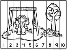 Number Puzzles: {Free Sample Set} by Polliwog Place Counting Puzzles, Number Puzzles, Maths Puzzles, Math Numbers, Preschool Worksheets, Math Resources, Counting Games, Numbers Preschool, 4 Year Old Activities