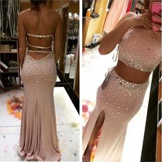 Sexy Backless Floor-Length Charming Prom Dresses,Sheath Floor-Length Evening Dresses, Prom Dresses, Real Made Prom Dresses