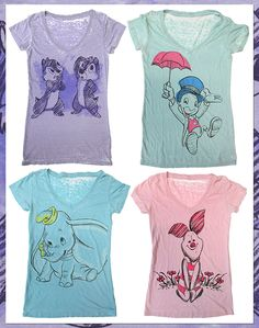 This Colorful New Collection Of Tees Feature Such Fan Favorites And Good Friends As Dumbo, Chip 'n' Dale, Jiminy Cricket And Piglet