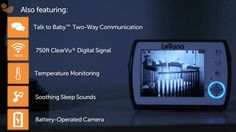The NEW Ayden Video Baby Monitor from Levana will give parents peace of mind ~ day or night!