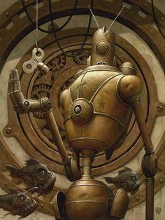 Piscis Ex Machina Picture  (2d, sci-fi, robot)