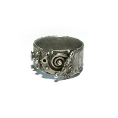 Unique, entirely handmade band ring - 925 silver oxidised and matt. Size - L/US 6 The width of ring band - mm. Sterling Silver Jewelry, 925 Silver, Silver Rings, Ring Bracelet, Cuff Bracelets, Buy Jewellery Online, Handmade Jewelry, Unique Jewelry, Band Rings