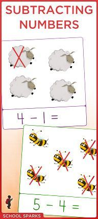 Free subtraction worksheets for kids to practice subtracting numbers up to 20.