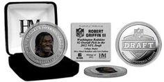 Robert Griffin III Washington Redskins 2012 Draft Day Silver Coin $25.99 http://www.fansedge.com/Robert-Griffin-III-Washington-Redskins-2012-Draft-Day-Silver-Coin-_-1083350054_PD.html?social=pinterest_pfid23-49564