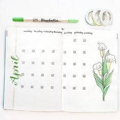 [Green and white theme for April ] Instagram (nephena.studies)