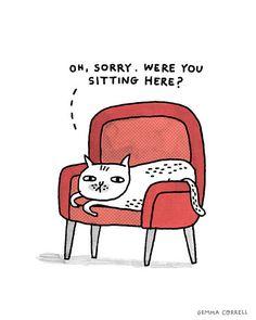 Hahaha sempre assim, eles fazem o favor de esquentar a cadeira pra gente <3