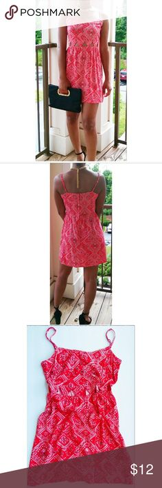 Cami Dress With Cutouts Divided by H&M Cami Dress in a cute red bandana print featuring cut outs and adjustable straps! ? H&M Dresses Mini
