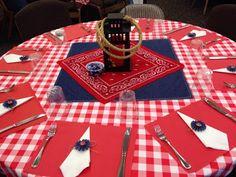 "Western Table Setting, Centerpiece, Cowboy Theme, ""Saddle Up"""