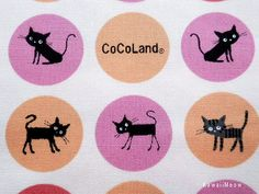 SALE / CoCoLand Fabric  Soap Bubbles Cats on Ivory x by KawaiiMeow