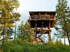 former fire tower turned house