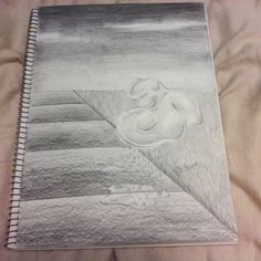 Day 11 of my AP Studio Art sketchbook done in graphite pencil by Julia DeStefano. A continuation of my water study in which I (literally) brought the water to life. Theres a face in the water blob if you look closely. This guy even inspired a short story, if only I had time to write it >.<