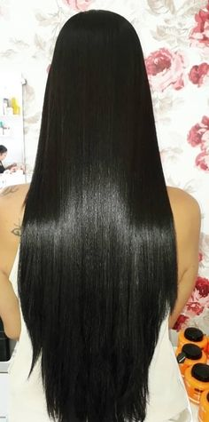 Beautiful Long Hair, Gorgeous Hair, Simply Beautiful, Amazing Hair, Long Haired Cats, Long Haired Chihuahua, Straight Hairstyles, Girl Hairstyles, Long Black Hair