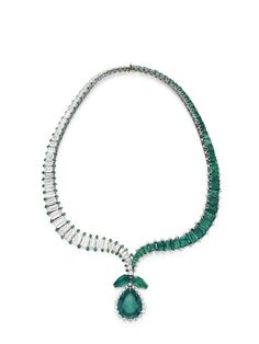 Emerald and diamond necklace, Harry Winston, circa 1956