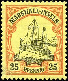 Marshall Islands 1901. Kaiseryacht SMY Hohenzollern. 25 Pfennig