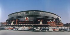 Milwaukee County Stadium,home of the Milwaukee Braves in the 1950s