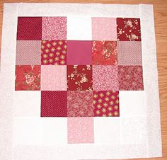 Layout for heart lil twister quilt