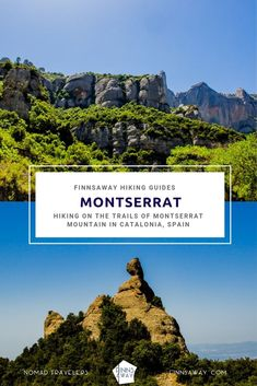 Guide post on hike to Montserrat Monastery, and for the trails up in the gorgeous Montserrat Nature Park in Catalonia, Spain. Alternative trail to Sant Jeroni Peak and tips on how to plan your hiking day. Travel Around The World, Around The Worlds, Europa Tour, Montserrat, Hiking Guide, Southern Europe, Travelling, Travel Destinations, Trail