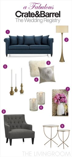 A Fabulous Wedding Registry With Crate And Barrel: The Living Room