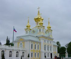 """East Chapel"".  Palácio Peterhof. # Peterhof, Rússia."
