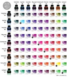 New Products - Platinum Mix Free Fountain Pen Ink, Rohrer & Klingner Writing Ink, Field Notes Memo Books and More! Color Mixing Chart, Color Charts, Graf Von Faber Castell, Jet Pens, Dip Pen, Writing Pens, Fountain Pen Ink, Pen And Paper, Writing Instruments