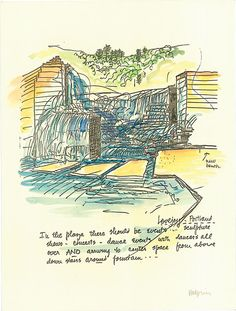 Illustration for Lovejoy Fountain, Portland, by Lawrence Halprin
